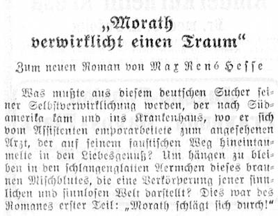 Einer der Texte von Frisch in der NZZ vom 24. Dezember 1933 (Ausschnitt)